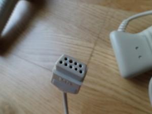 This beige pre production MBX Joystick cable port has a different number than the commercial MBX Joystick. MB (Milton Bradley) MEC 5