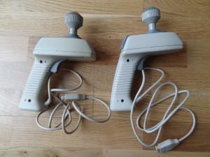 Left: pre production MBX Joystick Right: commercial MBX Joystick