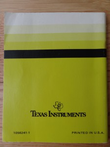 Speech Synthesizer PHP 1500,  1056241-1 © 1980 Texas Instruments