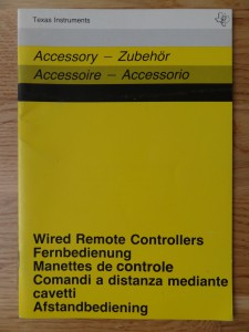 Wired Remote Controllers PHP 1100,  1103007-0000 no Copyright
