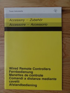 Wired Remote Controllers PHP 1100,  1103007-0001 no Copyright