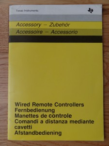 Wired Remote Controllers PHP 1100,  1103007-0020 no Copyright