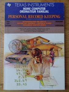 Personal Record Keeping PHM3013, 1103026-0201 © 1982, 1983 Texas Instruments