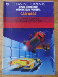 Car Wars (sadly only the cover) PHM3054, 1103036-0200 © 1983 Texas Instruments