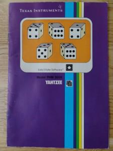 Yahtzee PHM 3039,  1103038-0000 no Copyright