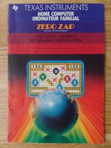 Zero Zap PHM 3036,  1103042-0200 © 1983 Texas Instruments