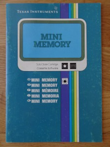 Mini Memory PHM 3058,  1103065-0000 no Copyright