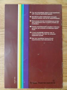 Speech Editor PHM 3011,  1103067-0000 © 1982 Texas Instruments