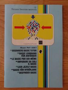 Teach Yourself Basic PHT 6067,  1103071-0200 (© 1982 Texas Instruments)