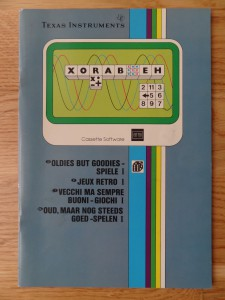 Oldies But Goodies - Games I PHT 6015,  1103074-0000 © 1982 Texas Instruments
