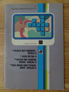 Oldies But Goodies - Games II PHT 6017,  1103075-0000 © 1980, 1982 Texas Instruments
