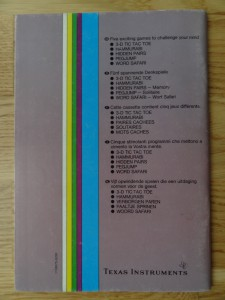Oldies But Goodies - Games II PHT 6017,  1103075-0200 © 1982 Texas Instruments