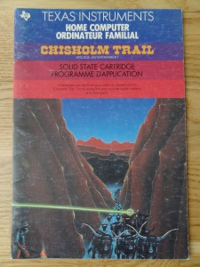 Chisholm Trail PHM 3110,  1103082-0200 © 1982, 1983 Texas Instruments
