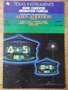 Alien Addition PHM 3115,  1103087-0200 © 1983 Texas Instruments