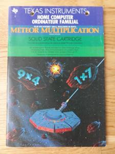 Meteor Multiplication PHM 3119,  1103089-0000 © 1982, 1983 Texas Instruments
