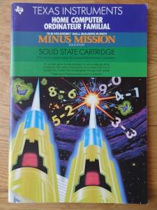 Minus Mission PHM 3118,  1103090-0000 © 1982, 1983 Texas Instruments