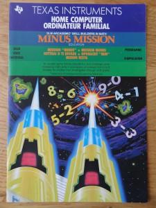 Minus Mission PHM 3118,  1103090-0200 © 1983 Texas Instruments