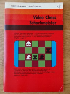 Video Chess PHM 3008,  1104988 © 1979 Texas Instruments