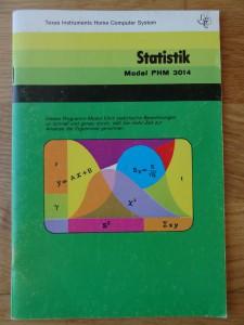 Statistik PHM 3014,  1105512-0002 © 1980 Texas Instruments