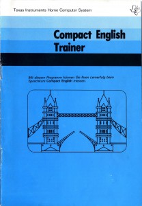 Compact English Trainer (I do not own this manual) 1105692-0001  © 1980 Texas Instruments