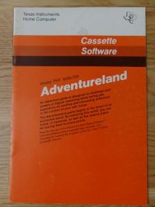 Adventureland PHT 6046,  1109029-0001 © 1981 Texas Instruments © 1981 Adventure International