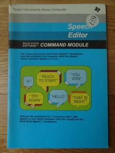 Speech Editor PHM 3011,  1109085-0020 © 1980 Texas Instruments
