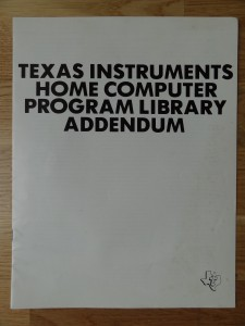 Home Computer ProgramLibraryAddendum Cover
