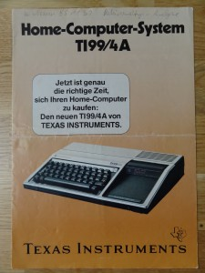 HomeComputerSystem TI99 4a Cover