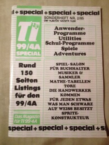 TI-99/4A Special  Sonderheft 1/85