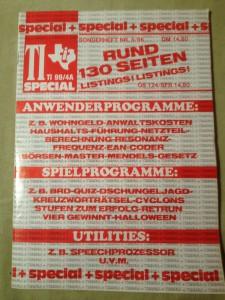 TI-99/4A Special  Sonderheft 5/86