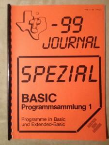 TI-99 Journal Spezial BASIC Programmsammlung 1
