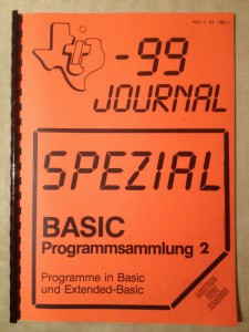 TI-99 Journal Spezial BASIC Programmsammlung 2