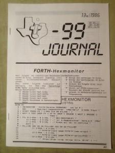 TI-99 Journal 13c/1986