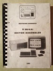 Deutsches Handbuch TI-99/4(A) Editor/Assembler 1983 Wickert