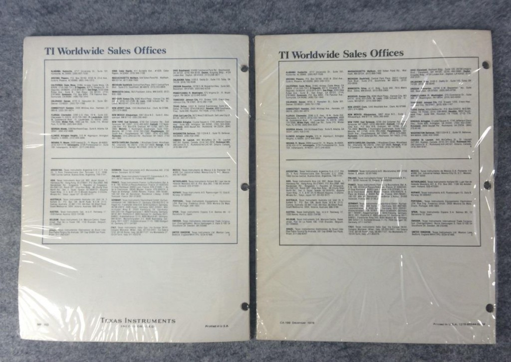 TMS 9900 Family System Development Manual TM 990/101M EIA communications link Texas Instruments Application Report Bulletin MP702, Bulletin MP705