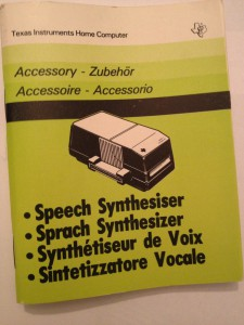Speech Synthesizer (belongs not to me) PHP 1500,  1105593-1