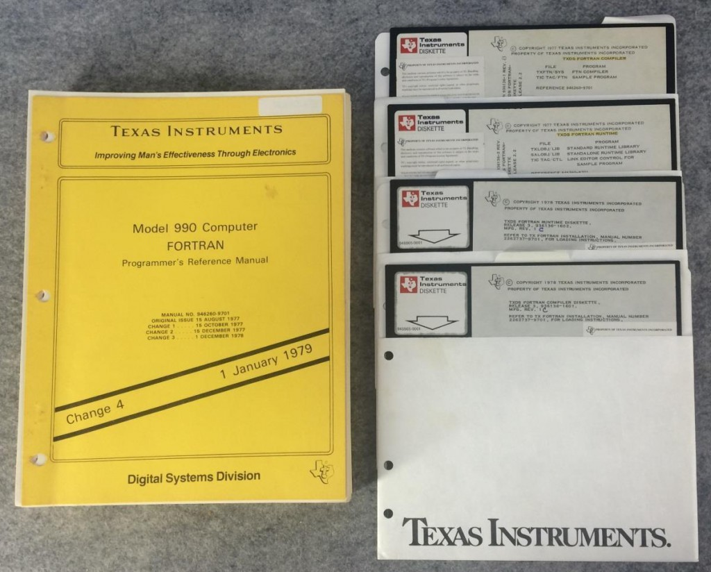 "Model 990 Computer Fortran Programmers Reference Manual TXDS Fortran Release on 8"" Disks"