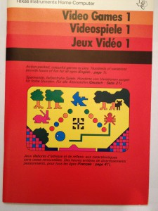 Video Games 1 (I do not own this manual) PHM 3018, 1104980 © 1979 Texas Instruments