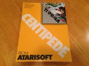 Centipede™, Packaging Front Atarisoft RX 8503, TI-99/4A © 1983 Atari, Inc.
