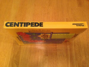 Centipede™, Packaging Left Side Atarisoft RX 8503, TI-99/4A © 1983 Atari, Inc.