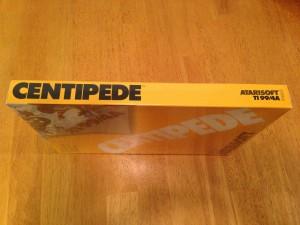 Centipede™, Packaging Right Side Atarisoft RX 8503, TI-99/4A © 1983 Atari, Inc.