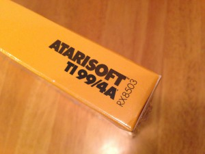 Centipede™, Productcode Atarisoft RX 8503, TI-99/4A © 1983 Atari, Inc.
