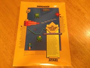 Defender™, Packaging Back Atarisoft RX 8506, TI-99/4A © 1983 Atari, Inc.