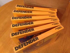 Defender™, Packaging Boxes Atarisoft RX 8506, TI-99/4A © 1983 Atari, Inc.