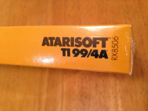 Defender™, Productcode Atarisoft RX 8506, TI-99/4A © 1983 Atari, Inc.