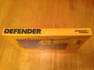 Defender™, Packaging Left Side Atarisoft RX 8506, TI-99/4A © 1983 Atari, Inc.