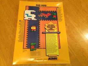 Dig Dug™, Packaging Back Atarisoft RX 8509, TI-99/4A © 1983 Atari, Inc.
