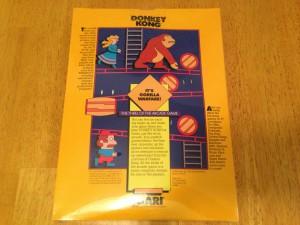 Donkey Kong, Packaging Back Atarisoft RX 8512, TI-99/4A © 1983 Atari, Inc.