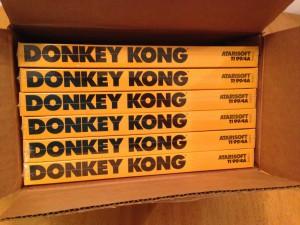 Donkey Kong, Shipping Box Top Atarisoft RX 8512, TI-99/4A © 1983 Atari, Inc.