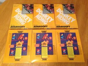 Donkey Kong, Packaging Boxes Atarisoft RX 8512, TI-99/4A © 1983 Atari, Inc.